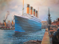 Alan Riegler Oil painting of Titanic